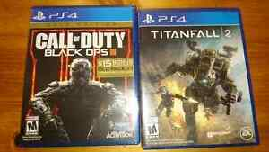 Titanfalls 2 and call of duty black ops III gold edition for ps4