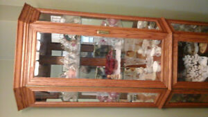 Beautiful lighted Hutch for sale