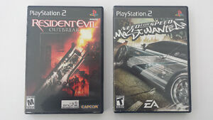 Resident Evil Outbreak et Need for Speed: Most Wanted pour PS2