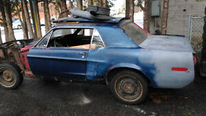 1968 Ford Mustang 2dr Coupe parts or restoration