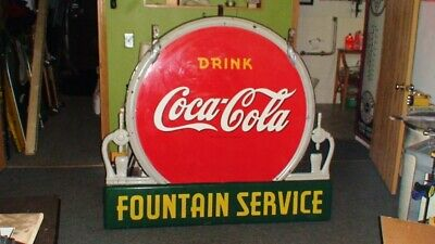 Coca Cola porcelain sign,RARE,1930's excellent condition see my other neon signs