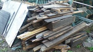 Scrap Lathes and Lumber for Bonfire or Garage Heater