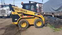 Tandem trucks and skid steer for hire