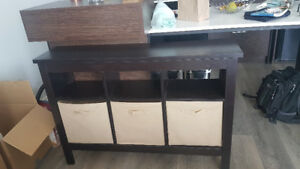 Kimberly Hall Table with Three Baskets (pickup only)