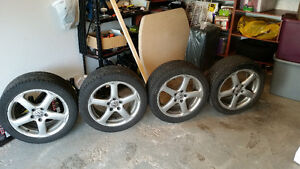 """17"""" OEM VW Rims With All Season Tires"""