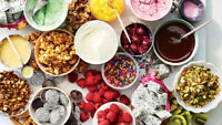 Ice Cream Toppings, Crushed and Whole candy, Frozen Fruit!