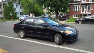 2001 Honda Civic Tissus Berline