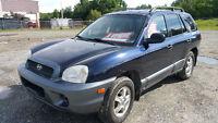 2004 Hyundai Santa Fe VUS + 4 pneus d'hivers neuf, clutch neuve