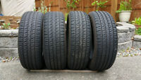4 almost new tires for sale 235/60R18
