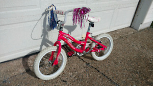 16 inch little girls bicycle always stored inside