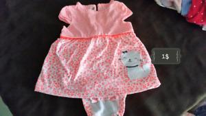Vêtements bébé fille New born à 6-9 mois