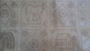 Country Punched Tin Look Curtains