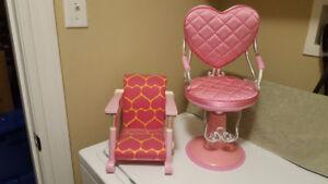 "Battat Beauty Salon Chair & Clip-On Chair - Fits 18"" Dolls"