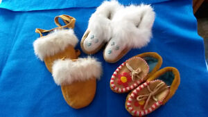 HAND MADE MITTENS AND MOCCASINS