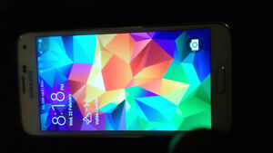 ehite samsung galaxy s5 with outter box