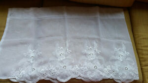 New French embroidered valances
