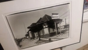 ► Original print of B/W photo of antique Toronto train station