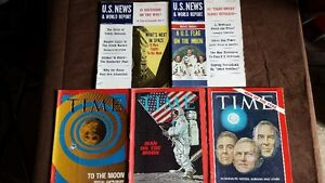 Lot#242- 1969 Space Related Mags 5 total. PURGING ITEMS.