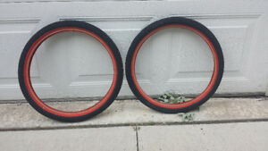 """NeW !! Pair of Kenda 20"""" bmx red wall tire's"""