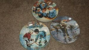 3 HOCKEY PLATES FOR SALE