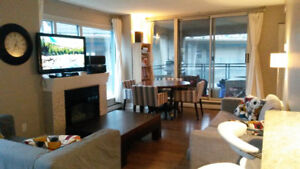 FURNISHED Spacious 2bd/2ba downtown, next to skytrain station