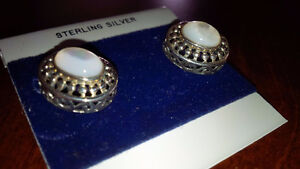 New White Stone Earings - for sale ! Kitchener / Waterloo Kitchener Area image 3