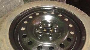 185/65/15 GOODYEAR winters on nice rims 5x100-57.1 c.b.