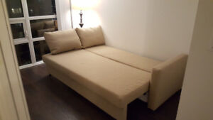 Sofa Bed, Beige, Excellent Condition (Price Negotiable)