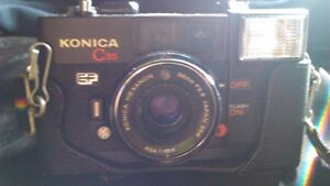 Konica C35 EF Vintage Film Camera Hexanon 38mm F2 8 Kitchener / Waterloo Kitchener Area image 3