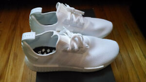 Adidas NMD R1 Pure White / Gum - Size 12