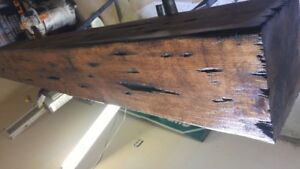 Distressed style fireplace beam