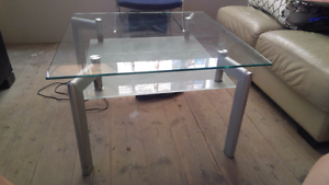 Glass table lounge room dining living metal coffee Broadview Port Adelaide Area Preview