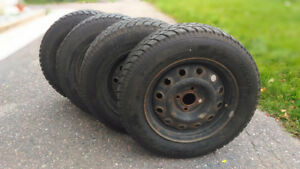 4x Snow Tires & Rims - Great Condition!