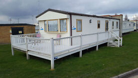 Used Static Caravan Decking | Mobile Home Veranda | 16ft x 8ft with 4ft walkway