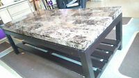 marble look coffee table