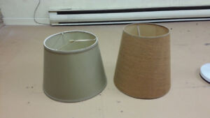 2 brown lampshades