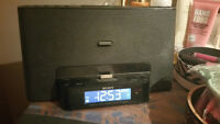 Sony Alarm Clock radio with iPod/iPhone/iPad Dock