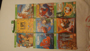 Leapfrog tag  - 9 books with pen