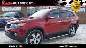 CERTIFIED 2013 SORENTO EX AWD - 43K - LEATHER - PST PD - YORKTON