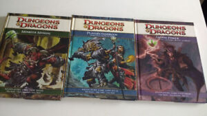 Dungeons and Dragons 4th Edition 3 books