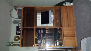 Oak wall unit, can be adapted