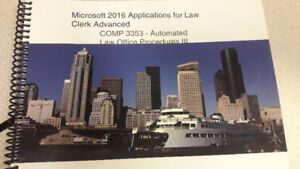 Microsoft 2016 Applcations for Law Clerk Advanced