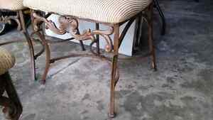 Cast iron/wood chairs French Parisienne style  Kitchener / Waterloo Kitchener Area image 4