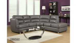 SOFA SECTIONNEL CUIR RECONSTITUE