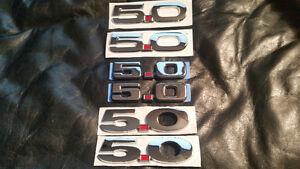 5.0  MUSTANG FORD BADGES.. SET OF 2 - $40  O.B.O
