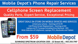 IPHONE 4/4S SCREEN REPLACEMENTS FOR $59 AT MOBILE DEPOT SUNRIDGE