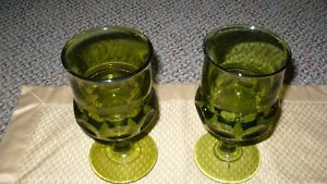 "VINTAGE LOVELY SET OF ""INDIANA KING'S CROWN THUMBPRINT GLASSES"""