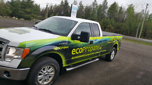 2013 Ford F-150 xlt HD Fourgonnette,HYBRIDE PROPANE ROULLEZ A 40
