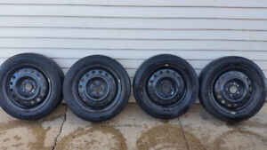 205 55 16 michelin primacey summer tires and steel rims