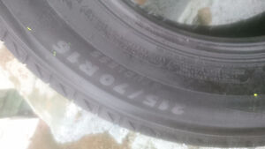 Real nice pair of 215-70-16 michelin snow tires